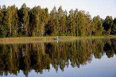 早期的渔夫早晨 免版税库存照片