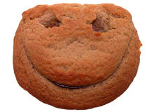 曲奇饼表面食物面带笑容 免版税库存照片