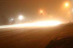 有雾的晚上 免版税库存照片