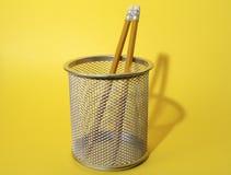 杯子铅笔 免版税库存照片