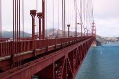桥梁门金黄范围 库存照片