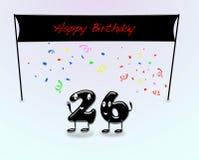 26th вечеринка по случаю дня рождения. Стоковые Фото