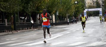 27ème Marathon de classique d'Athènes Images stock