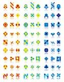 27个设计徽标 库存照片