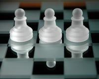 27 κομμάτια σκακιού Στοκ Εικόνες