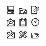 27 черных икон установили сеть Стоковое фото RF
