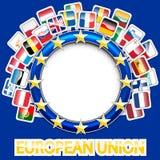 27 indicateurs d'Union européenne Photo stock