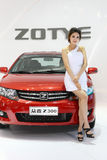 27 Kwiecień auto Beijing porcelanowy kobiety modela przedstawienie Zdjęcie Royalty Free