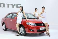 27 Kwiecień auto Beijing porcelanowy kobiety modela przedstawienie Fotografia Stock