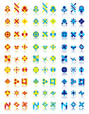 27 logo designs. Very useful and simple logo designs, 27 signs, 3 color combinations Stock Photo
