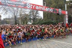 27 mars 2011 - édition de 40 ° du Stramilano Photos libres de droits