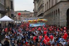 27 marzo 2011 - un'edizione dei 40 ° dello Stramilano Fotografia Stock Libera da Diritti