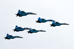 27 samolotów pięć su Obraz Stock
