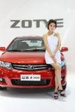 27 show för modell för april auto beijing porslinkvinnlig Royaltyfri Foto