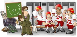 橄榄球更衣室 库存例证