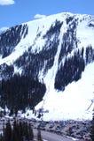 276多雪的山 库存照片