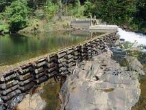 水坝 免版税图库摄影