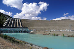 水坝水力发电新西兰 免版税库存照片