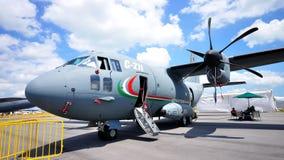 27j aermacchi alenia c wojskowego samolot Obraz Royalty Free