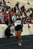 27mo Momentos clásicos del maratón de Atenas Imagen de archivo libre de regalías