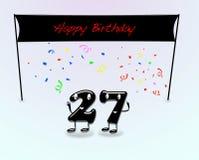 27th вечеринка по случаю дня рождения. Стоковые Изображения RF