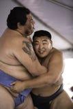 28位sumo摔跤手 库存图片