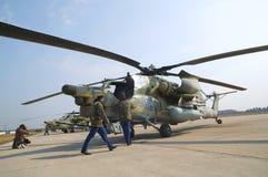 28架直升机mi军事俄语 库存图片