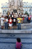 28 agosto: 100 cidades de encontro ao apedrejamento Fotografia de Stock