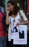 28 agosto: 100 città contro lapidare Immagini Stock Libere da Diritti