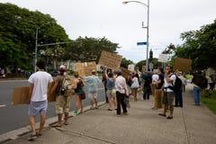28 anty apec Honolulu zajmuje protest Zdjęcia Royalty Free