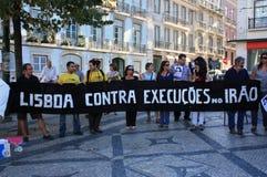 28 août : 100 villes contre la lapidation Image stock