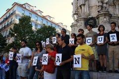 28 août : 100 villes contre la lapidation Image libre de droits