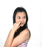 28 asiatiska flickabarn Arkivbild