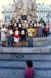 28 Augustus: 100 steden tegen het Stenigen Stock Fotografie