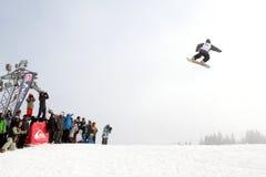 28 comp marszu quiksilver jazda na snowboardzie Vancouver Zdjęcie Royalty Free