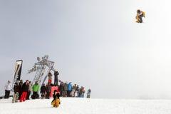 28 comp marszu quiksilver jazda na snowboardzie Vancouver Obrazy Stock