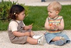 28 dzieci park Obrazy Royalty Free