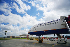 28 Juni 2012 - Bijgewerkt beeld van de Vliegtuigen van IJsland Stock Foto