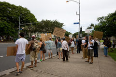 28 upptar anti apec honolulu protest Royaltyfria Foton