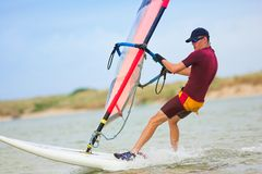 28 windsurfer Obrazy Royalty Free