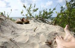 海滩ii鞋子暑假 免版税库存照片