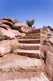 282 escaleras de la roca en la barranca de Bryce Imagenes de archivo