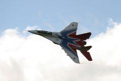 29喷气式歼击机mig俄语 图库摄影