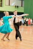 29对比拉罗斯夫妇舞蹈可以未认出的米 免版税库存图片