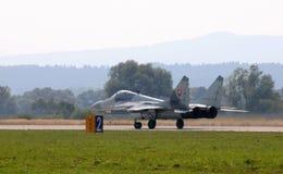 29航空战斗机着陆mig斯洛伐克二 库存图片