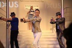 29 de mayo de 2011, la demostración de los modelos de la expo de Canon Foto de archivo libre de regalías