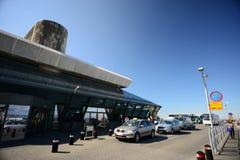 29 Juni 2012 - dat van Luchthaven KeflavÃk wordt bijgewerkt Royalty-vrije Stock Foto