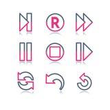 29 koloru konturowa ikon sieć Obraz Stock