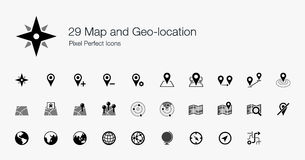 Free 29 Map And Geo-location Pixel Perfect Icons Royalty Free Stock Photo - 44209485