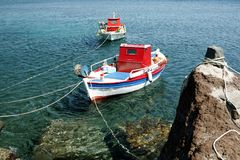 291 akrotiri łódź. Zdjęcia Stock